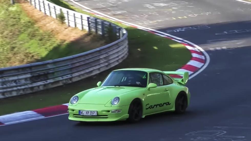 Un 911 rodando en Nürburgring