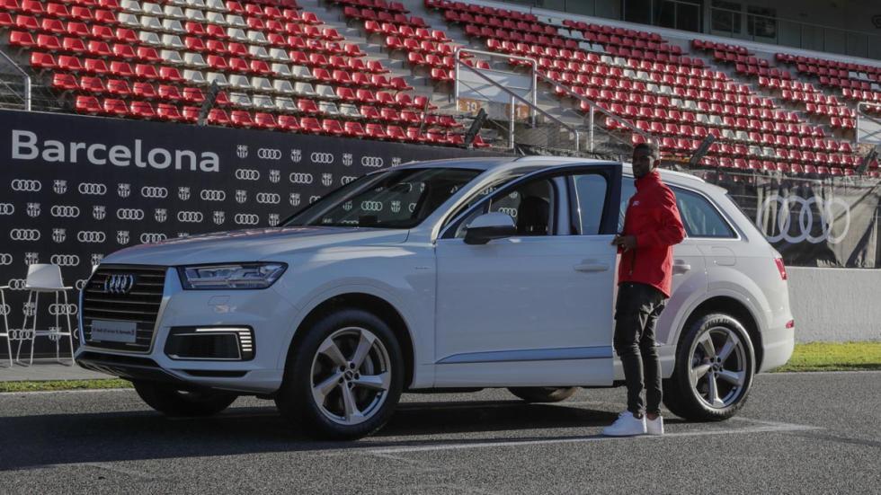 Los Audi de los jugadores del Barcelona Barça futbolistas