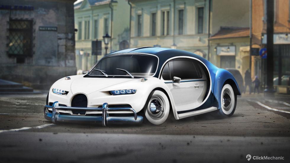 Bugatti Chiron/VW Escarabajo