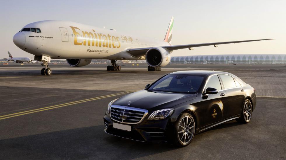 Cabina de avión Mercedes y Emirates