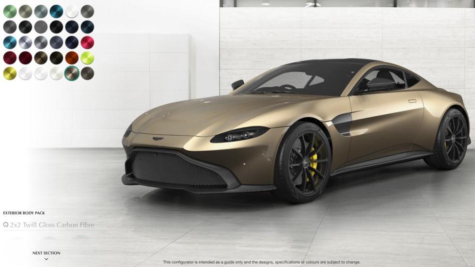 Configurador del Aston Martin Vantage 2018 deportivos lujo