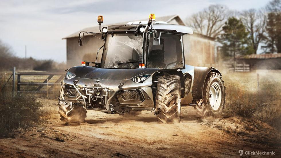 Lamborghini Aventador/Tractor