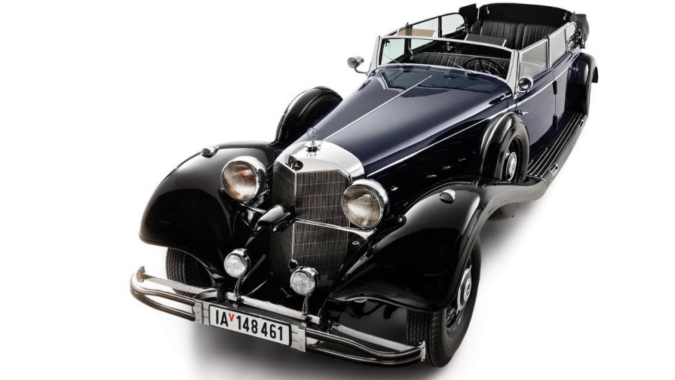 Cenital del Mercedes-Benz 770K Grosser Offener Tourenwagen de Hitler