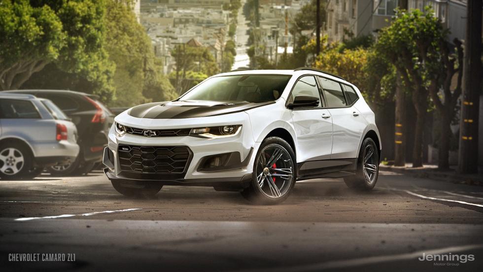 Un Chevrolet Camaro convertido en SUV