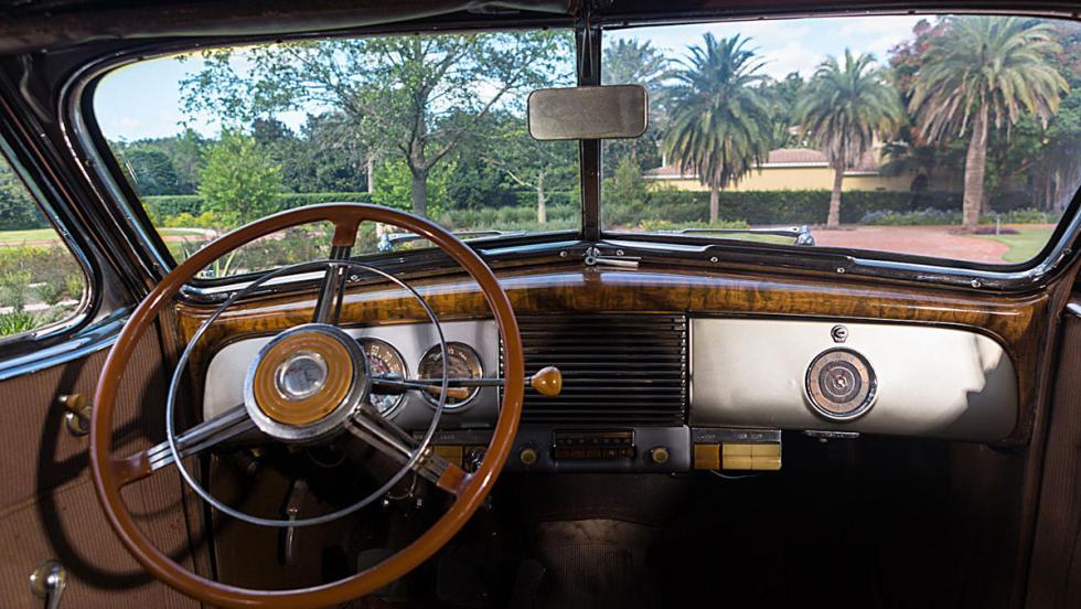 Los coches de Casablanca: Puesto de conducción del Buick Phaeton Limited 81C de 1940