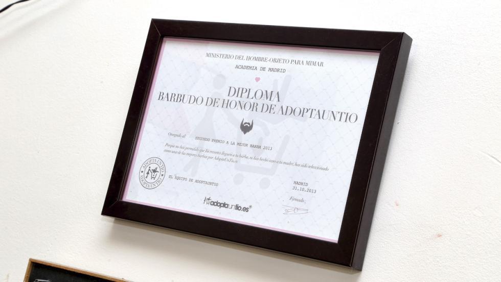 Diploma al barbudo (Manu Campa)