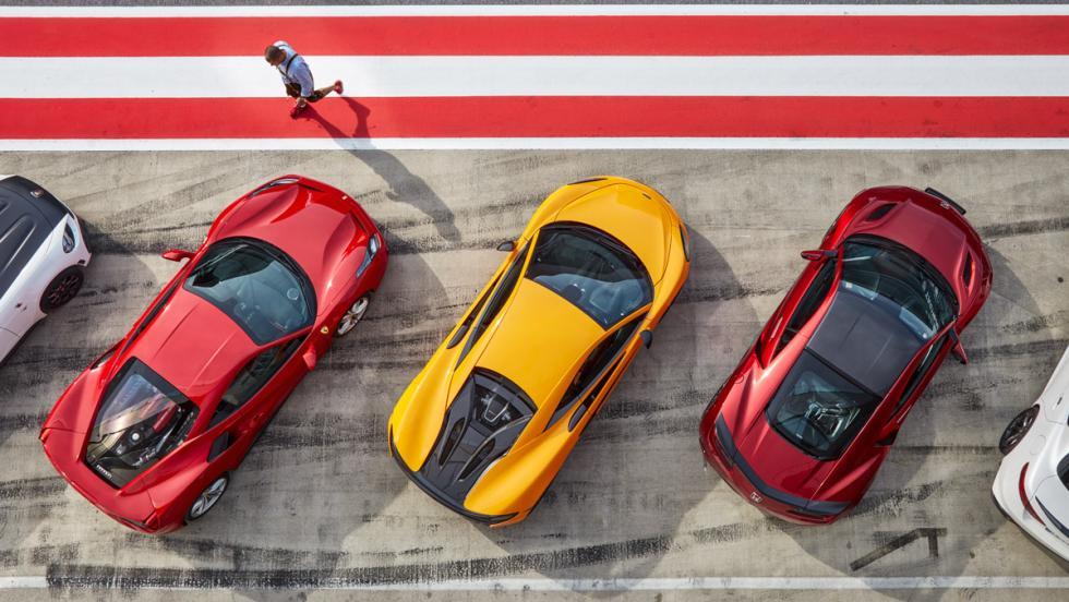 Prueba McLaren 570S vs Ferrari 488 GTB y Honda NSX (2)