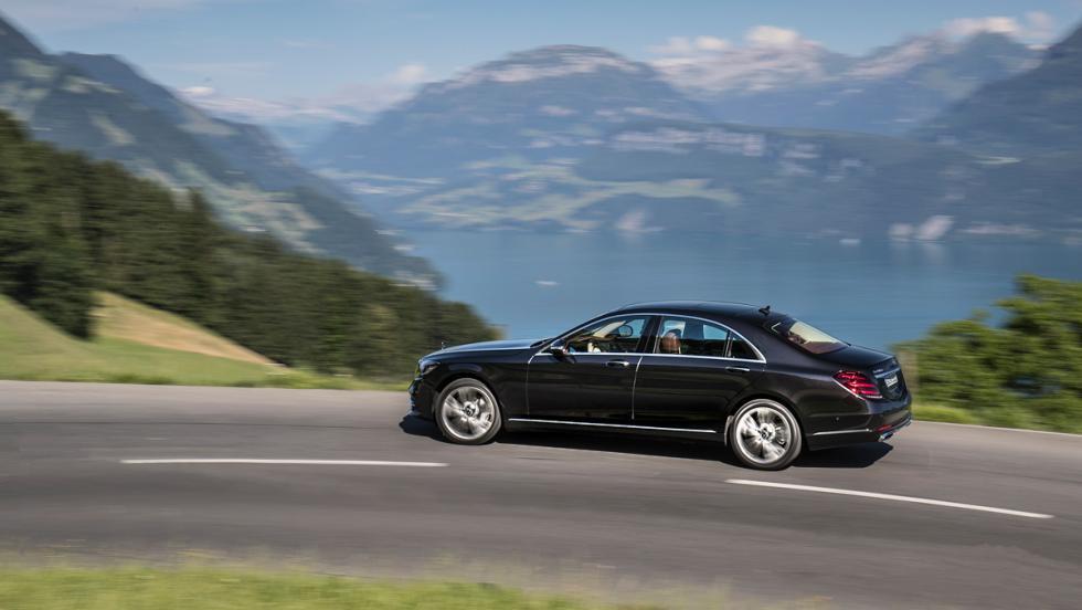 Prueba Mercedes-Benz S500L (curva)