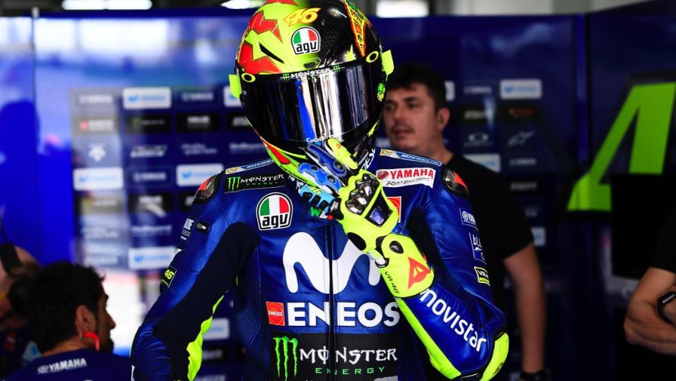 Casco 20 aniversario mundial Valentino Rossi