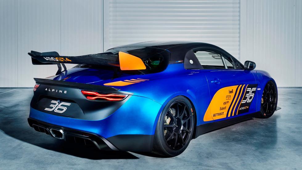 Alpine A110 GT4 (trasera)