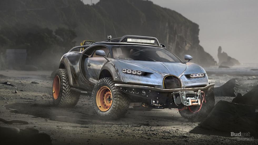 Bugatti Chiron convertido en 4x4