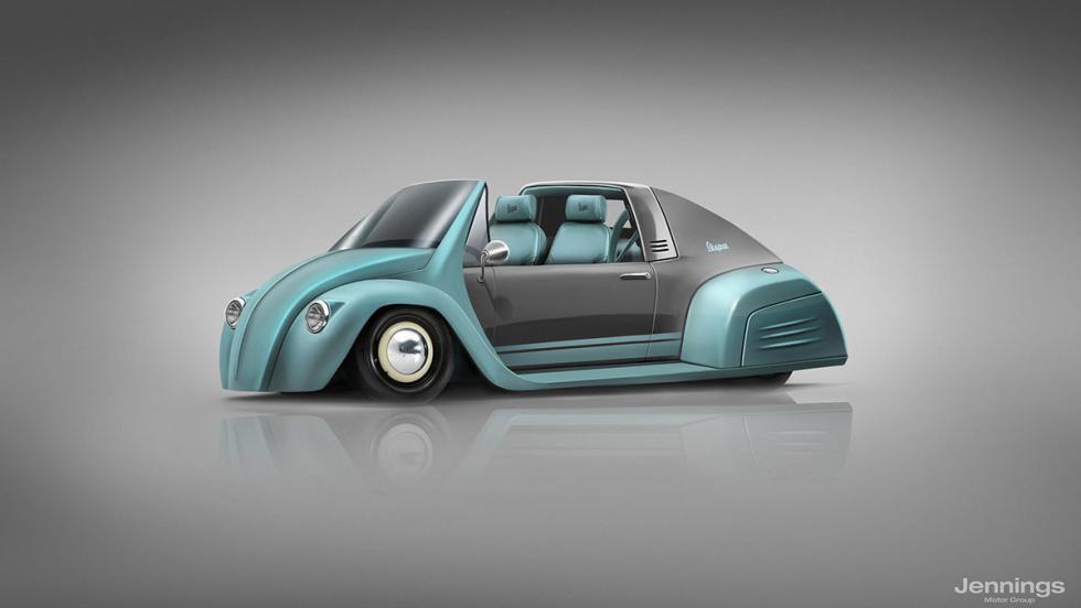 El coche de Vespa