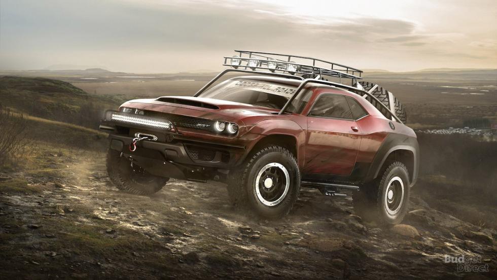 Dodge Challenger SRT Demon convertido en 4x4
