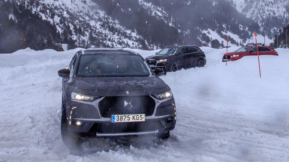 Prueba DS7 Crossback en nieve