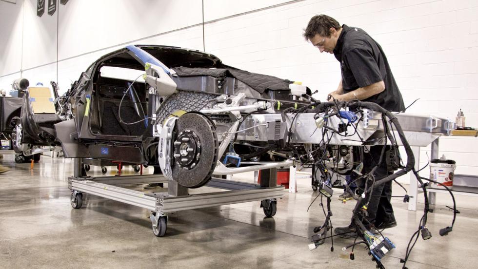 Fábrica Ford GT (cableado)
