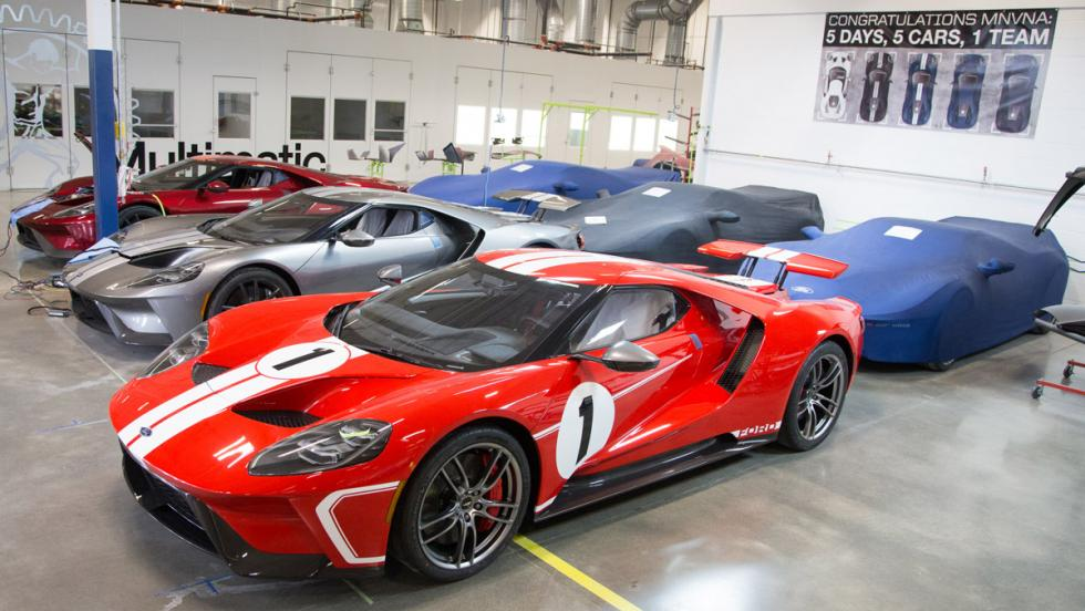 Fábrica Ford GT (coches acabados)