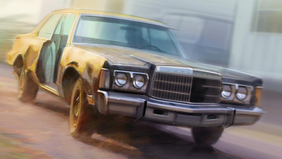Los mejores coches de la televisión - Chrysler New Yorker de 'Trailer park boys'