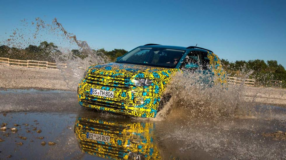 prueba toma contacto suv compacto suv-b agua off-road camuflar