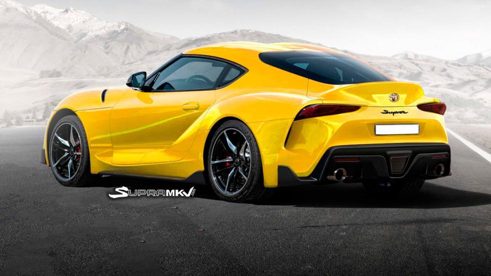 Nuevo Toyota Supra render (amarillo 2)