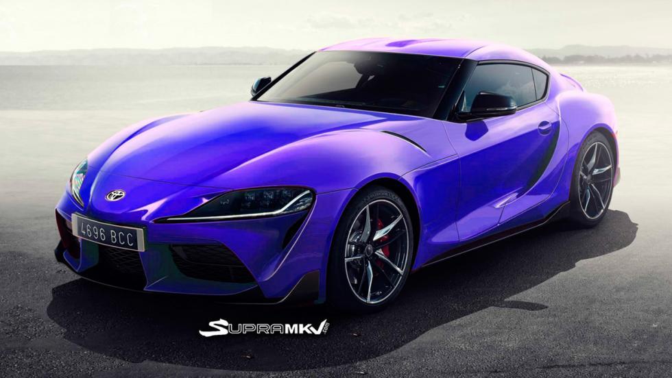 Nuevo Toyota Supra render (azul 1)