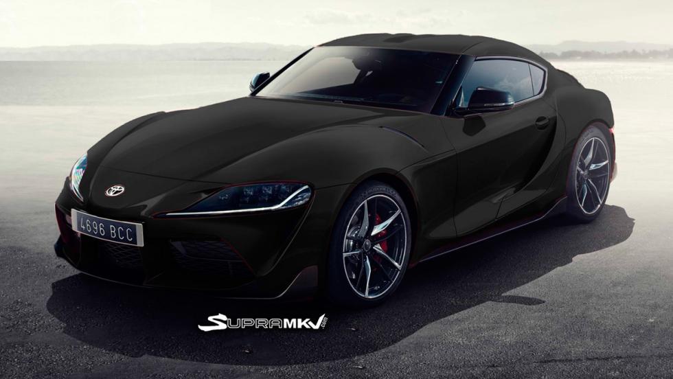 Nuevo Toyota Supra render (negro)