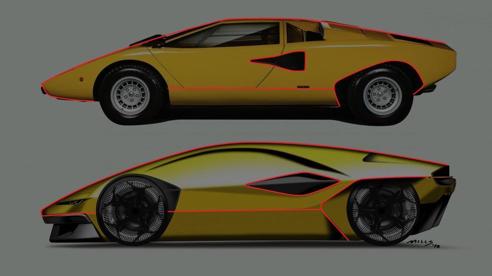 Lamborghini Countach (render)