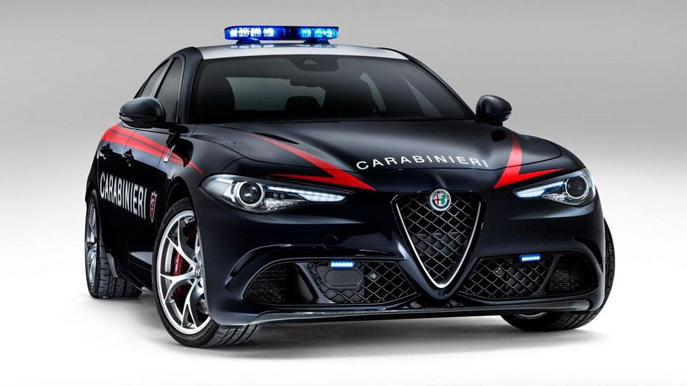 Alfa Romeo Giulia QV frontal coches Policía