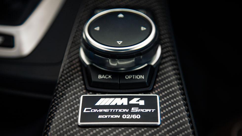 BMW M4 Competition Sport Edition placa conmemorativa número ejemplar