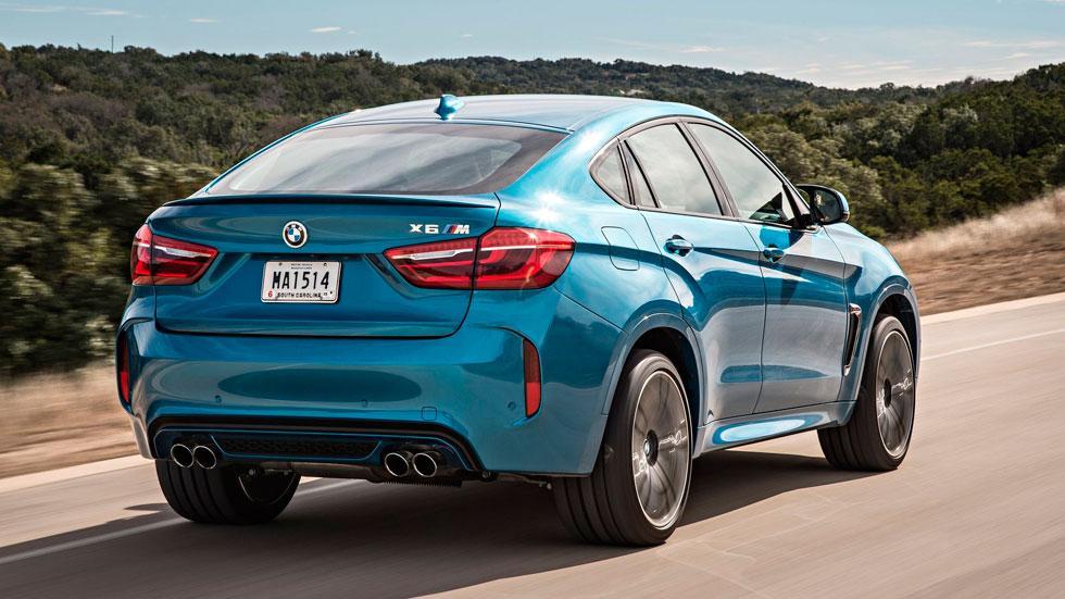 BMW X6 M trasera SUV lujo deportivo rápido
