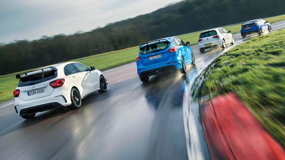 Ford Focus RS, rivales en circuito