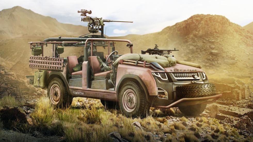 Land Rover Defender rosa desierto
