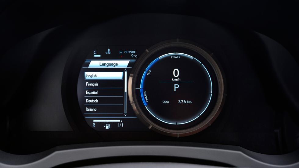 Lexus RC 300h, detalle cuadro mandos