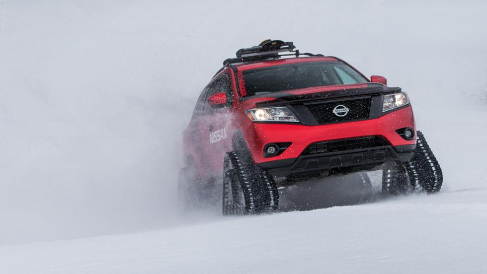 Nissan Winter Warrior Concept, frontal.