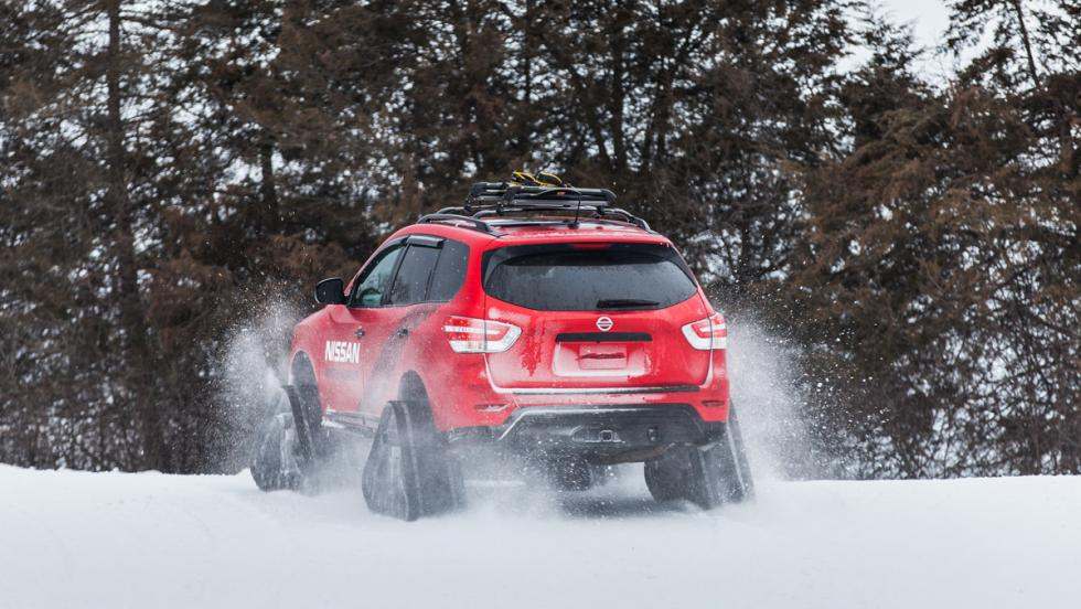 Nissan Winter Warrior Concept, trasera