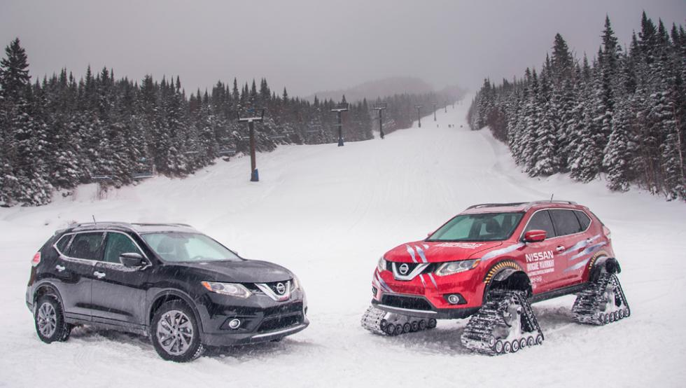 Nissan X-Trail Warrior junto a Nissan X-Trail