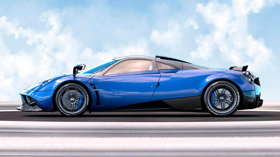 Pagani Huayra Pearl lateral azul carbono one-off