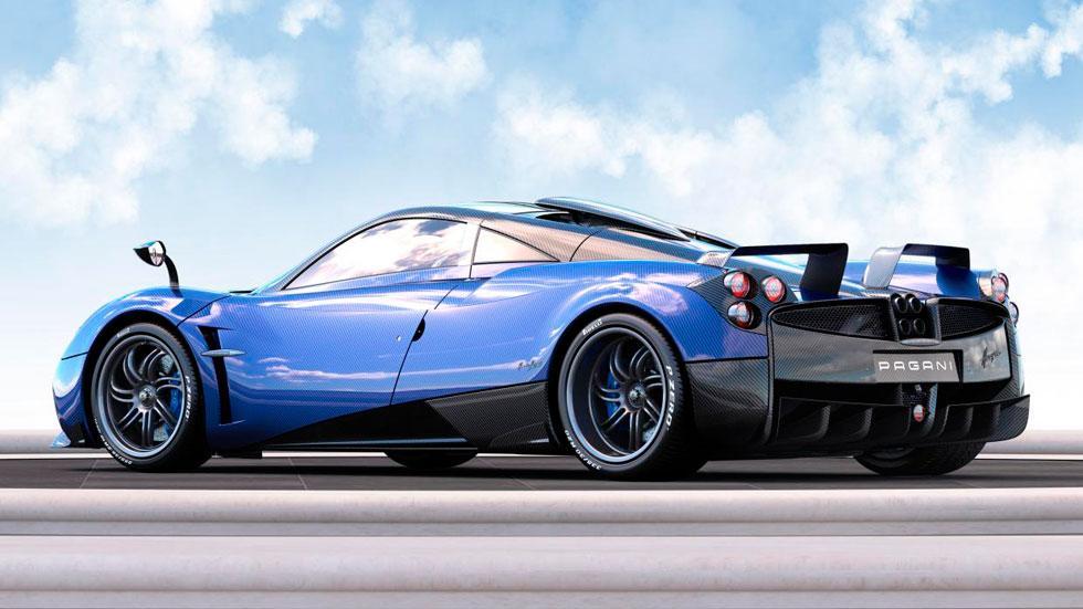 Pagani Huayra Pearl trasera carbono azul one-off