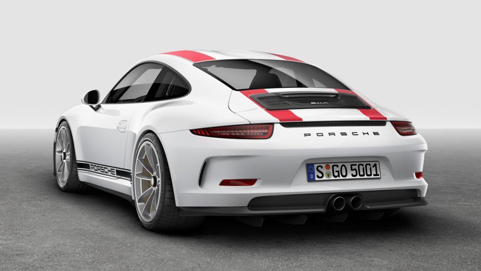 Porsche 911 R, trasera