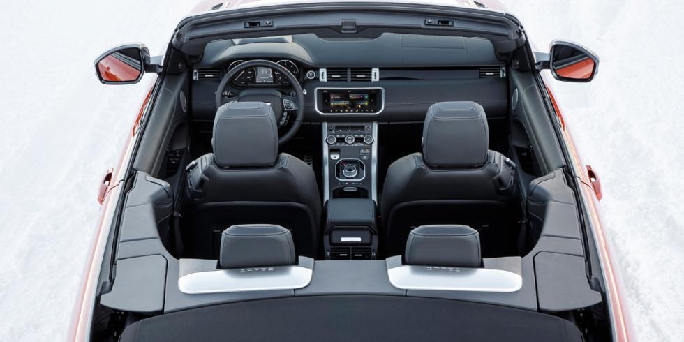Prueba Range Rover Evoque cabrio interior