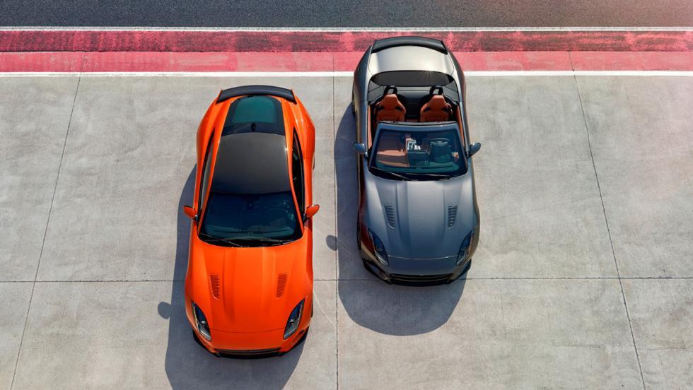 Versiones coupé y cabrio del Jaguar F-Type SVR