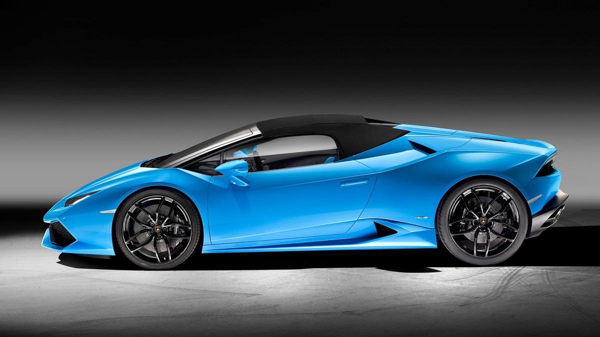 Lamborghini Huracán Spyder lateral lona