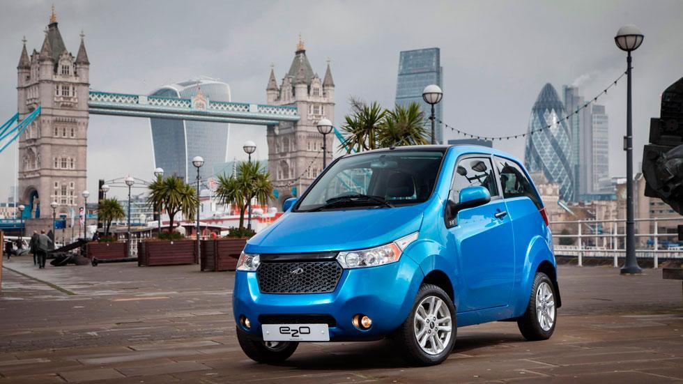 Mahindra e2o prueba londres coches electricos
