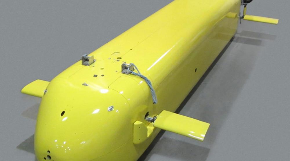 Aquí, una imagen del dron submarino en desarrollo entre GM y la Armada