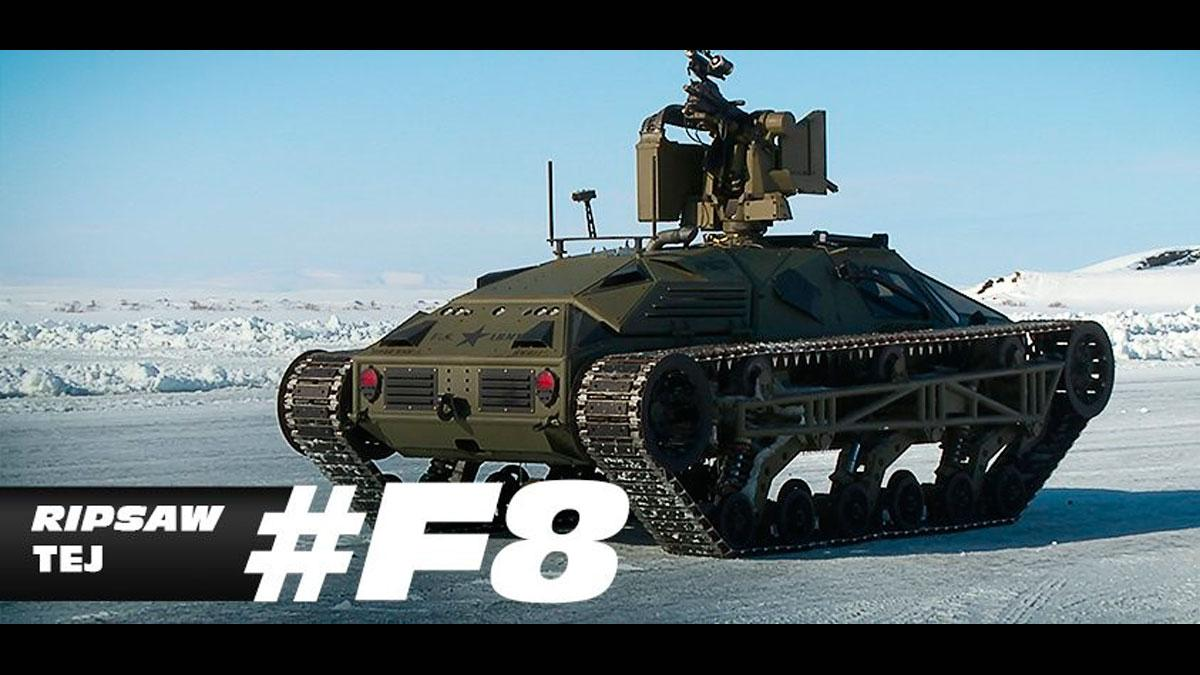 Fast and Furious 8 tanque Ripsaw Tej coches