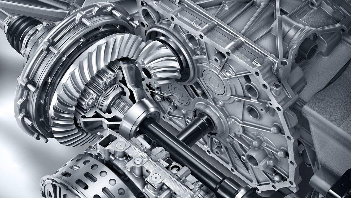 Imagen de la transmisión del Mercedes AMG GT-S