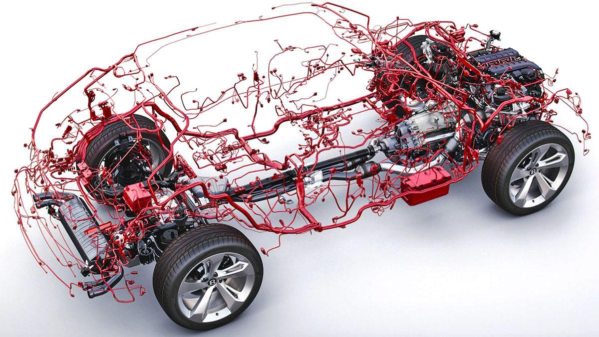 Así es el cableado eléctrico del Bentley Bentayga