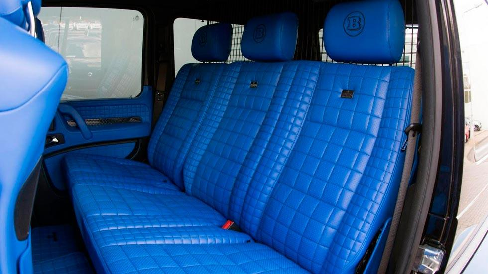 Brabus G 500 4x4 plazas traseras azul tapicería cuero