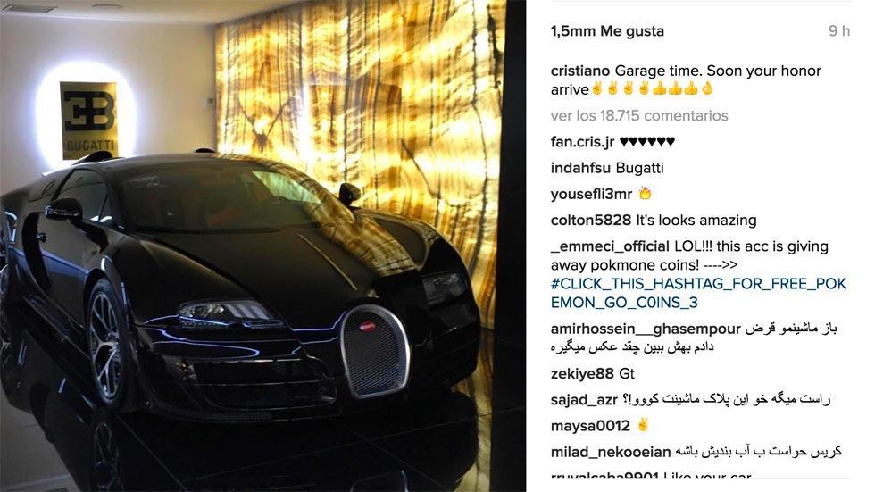 Cristiano Ronaldo Bugatti Veyron famosos casa coches