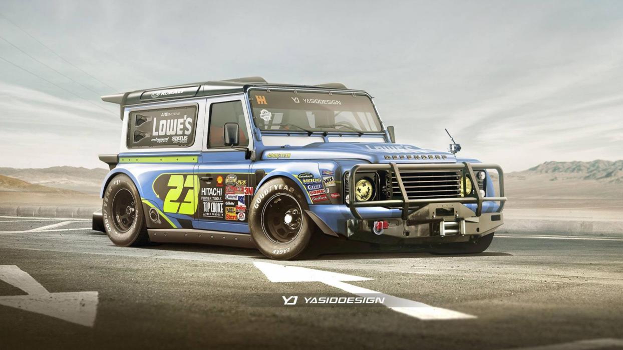Land Rover Defender de la NASCAR