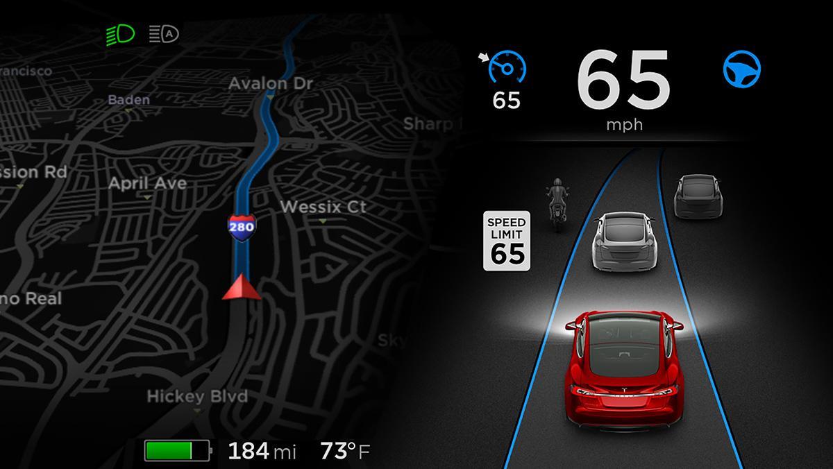 Piloto automático del Tesla Model S
